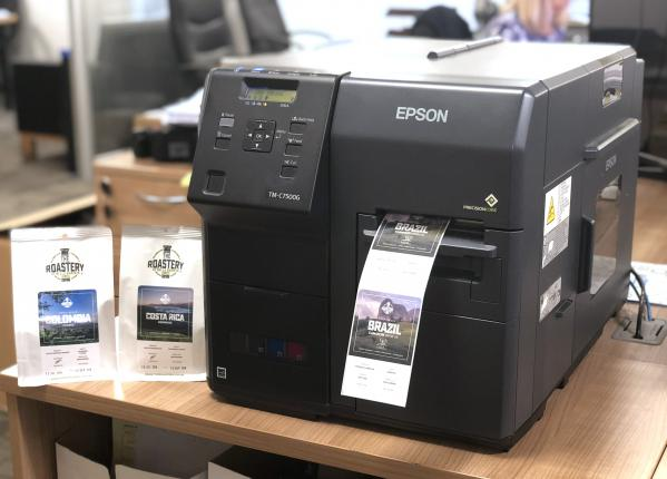 Bella Barista Coffee Roasters - Epson Colorworks C7500G
