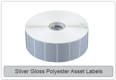 Silver White Asset Labels