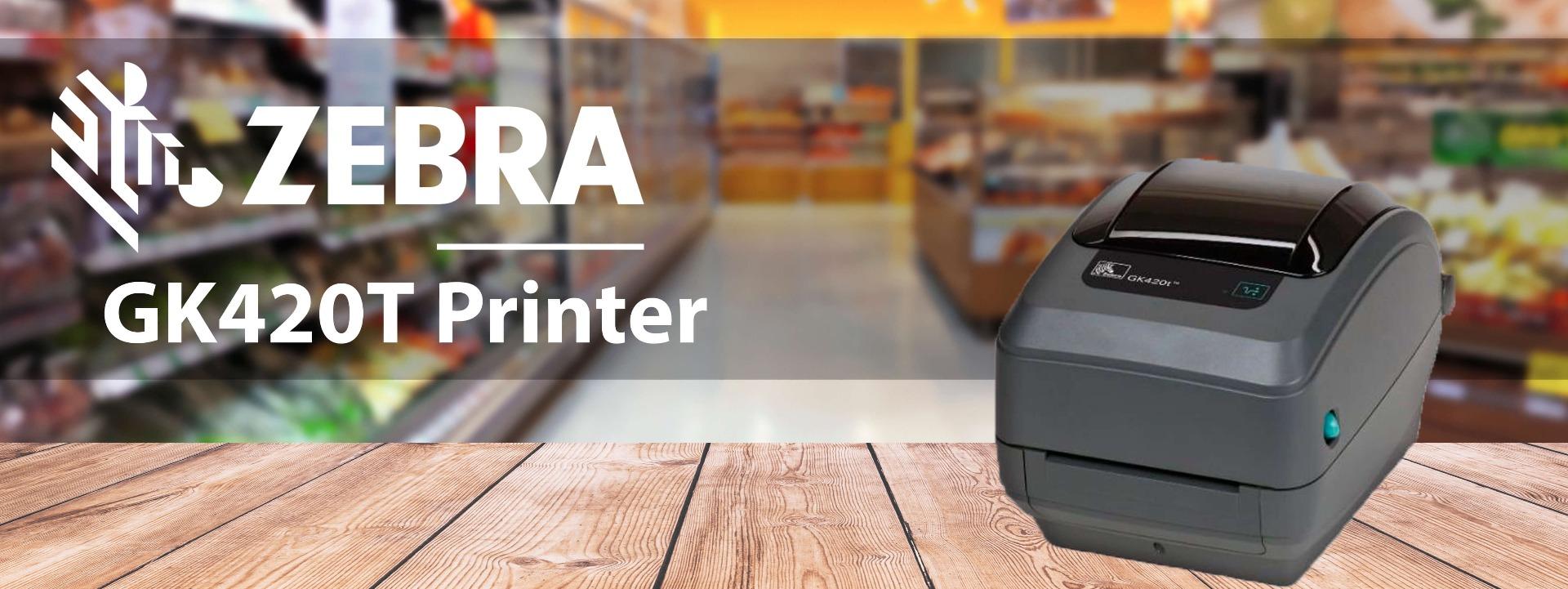 Zebra GK420T thermal transfer printer banner