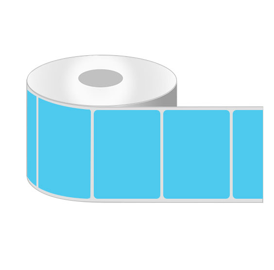 blank coloured labels on rolls