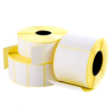 blank direct thermal labels on rolls