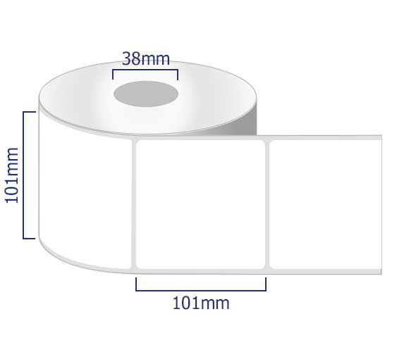 permanent labels on rolls 101mm x 101mm