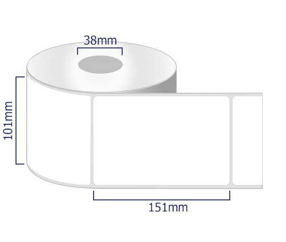 permanent labels on rolls 101 x 151mm