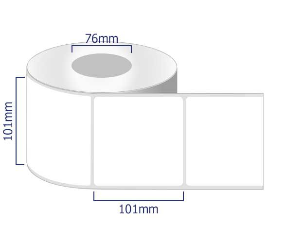 removable labels on rolls 101 x 101mm
