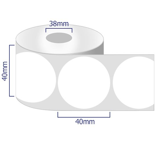 round removable labels 40mm
