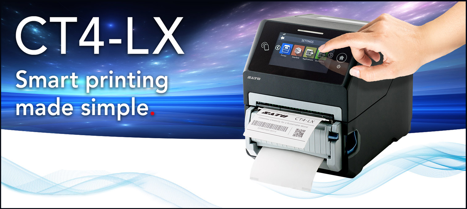 sato ct4-lx series desktop label and barcode printer banner