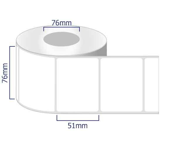 76 x 51mm semi gloss freezer labels