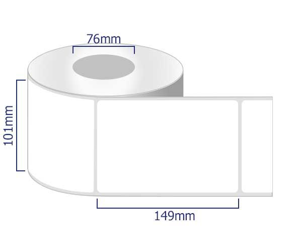 101 x 149mm semi gloss labels removable