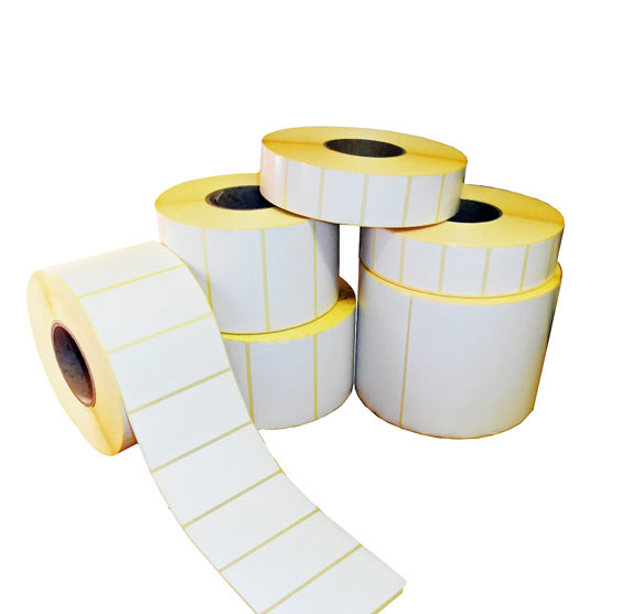 blank thermal transfer labels on rolls