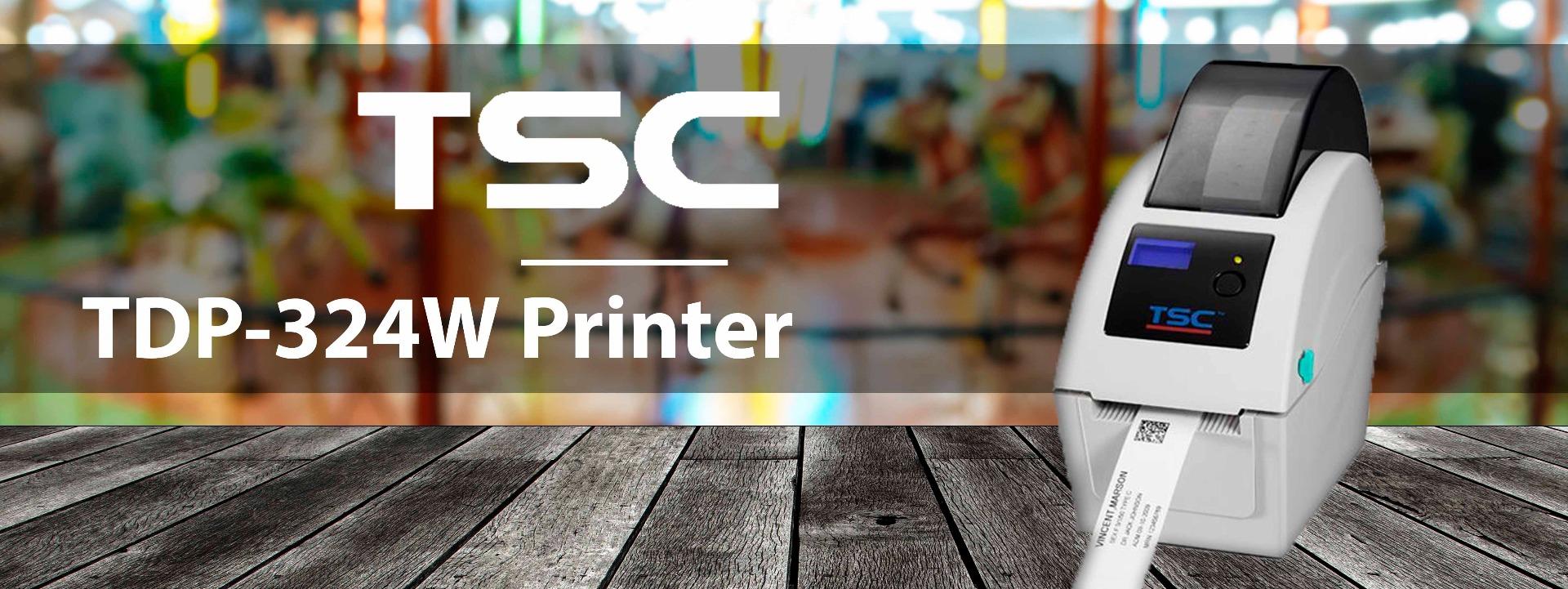 TSC TDP-324W Wristband Printer banner