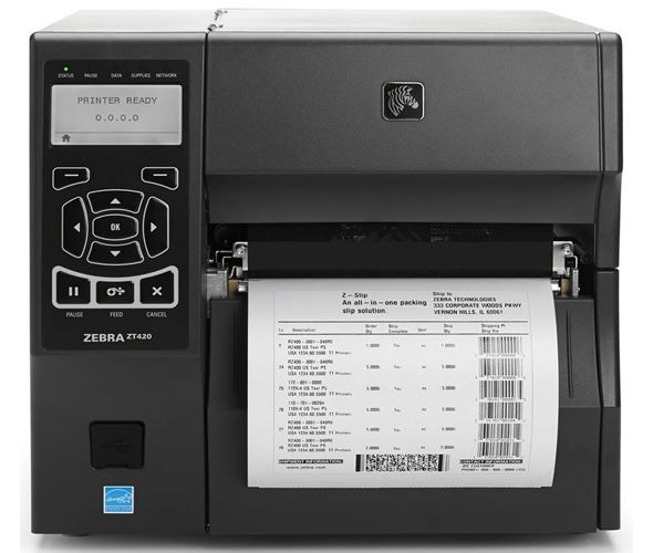 Zebra ZT420 industrial thermal transfer printer