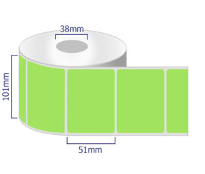 Green Coloured thermal labels